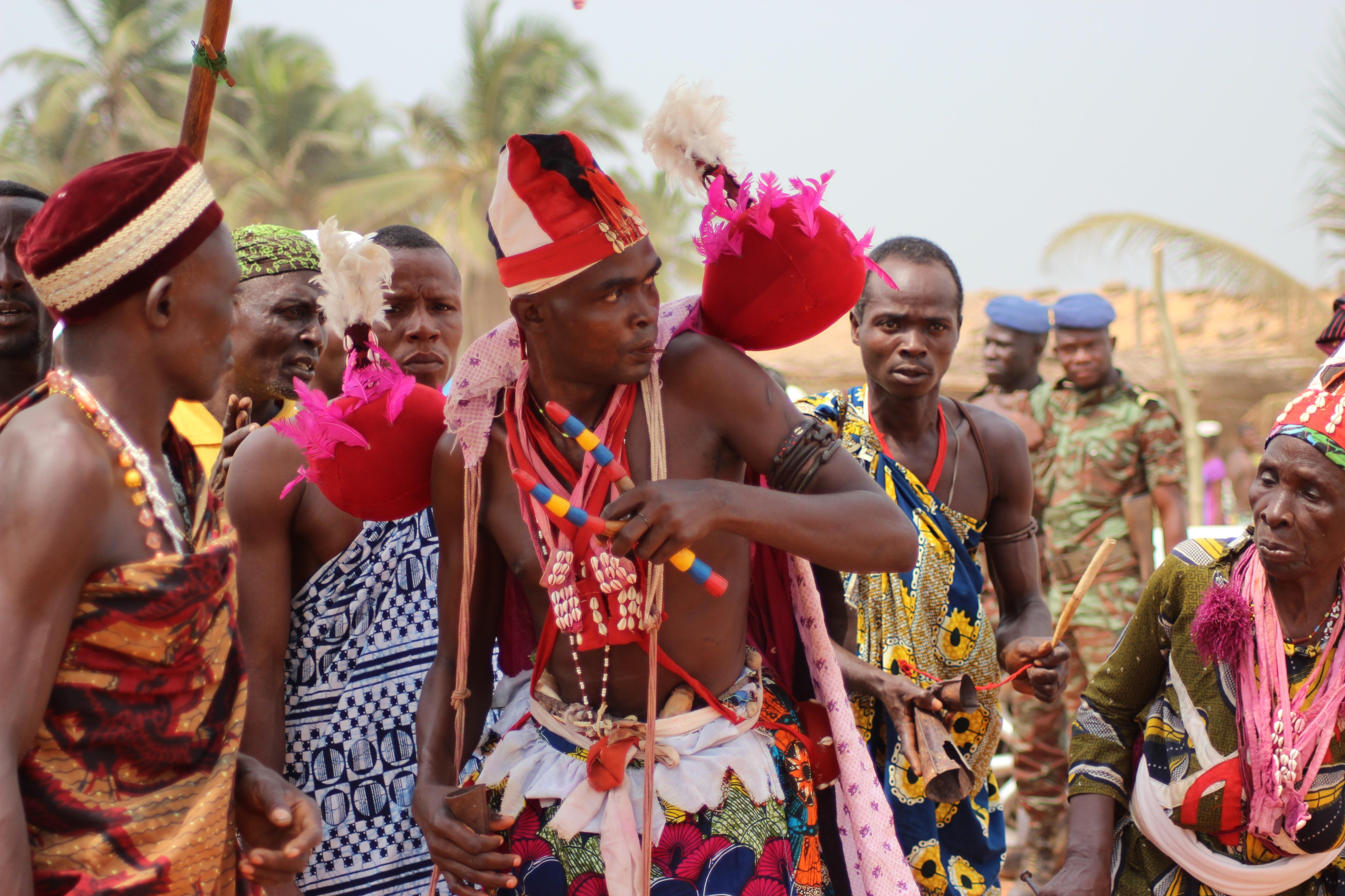 Festivités de la fête du vodoun au Benin