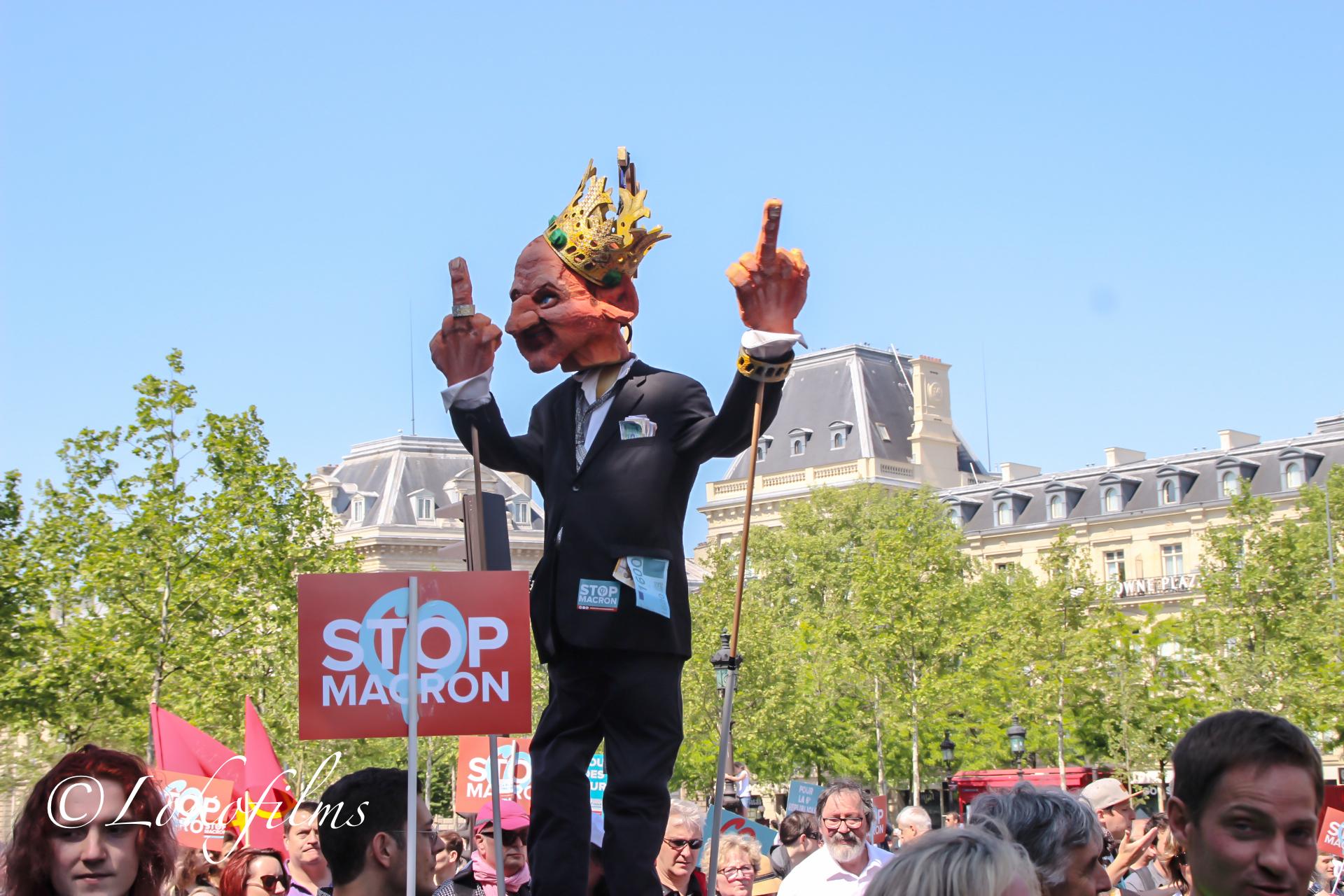 Marche «fête à Macron» du 5 Mai