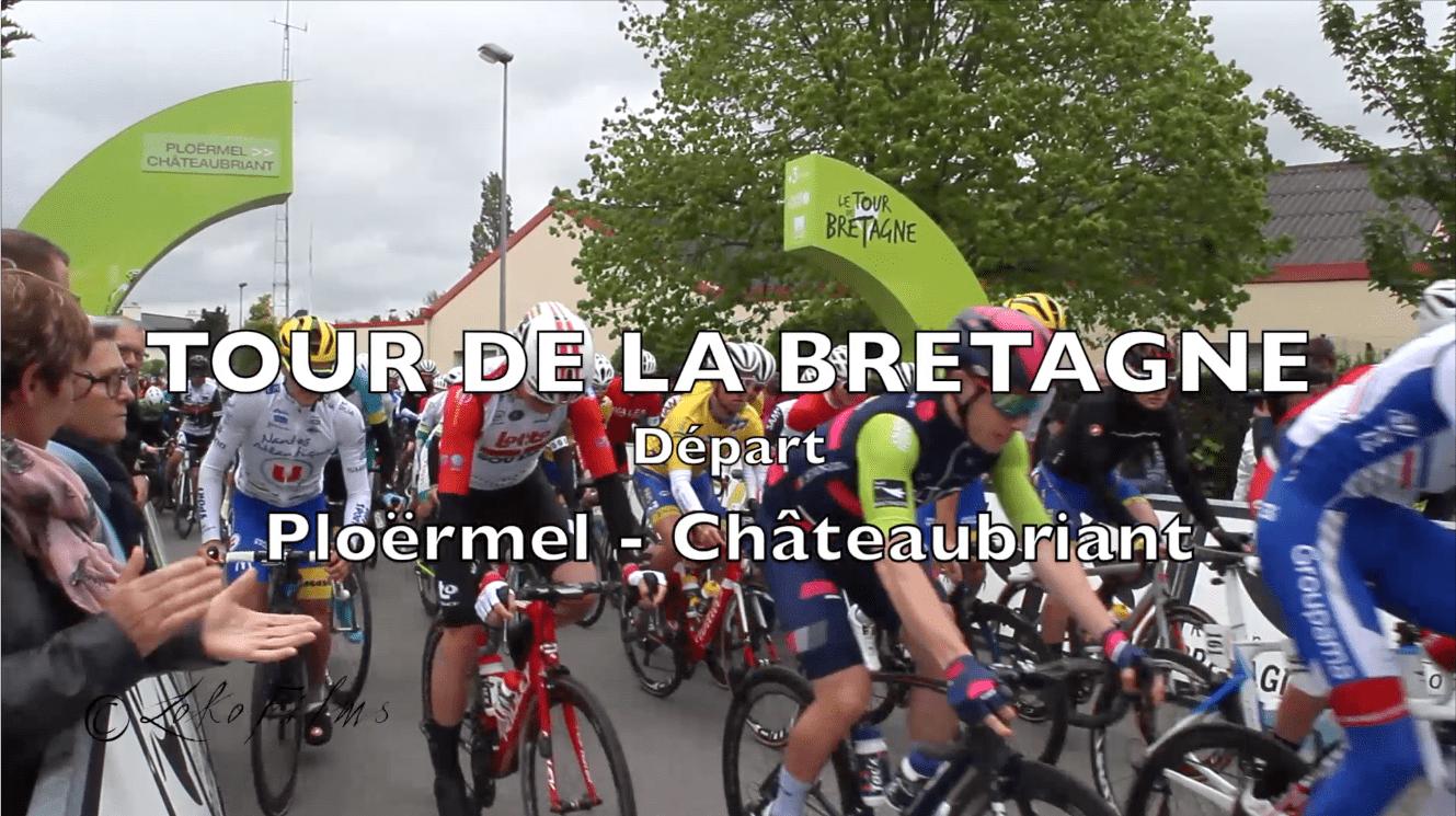 Cyclisme / tour de Bretagne 2019 : départ de l'étape Ploermel-Châteaubriant